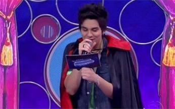 Luan Santana se transforma em vampiro no Vídeo Game - Cantor conta caôs e verdades para o elenco mirim na semana da criança