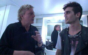 Bruno de Luca confere bastidor da gravação do especial Tal Filho, Tal Pai - Fábio Jr. e Fiuk contam como é a relação entre os dois
