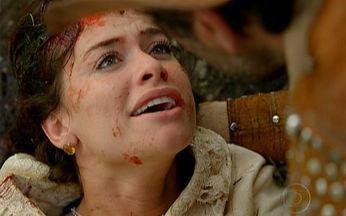 Cristina pede que Herculano dê recado ao rei - Ela morre em seus braços