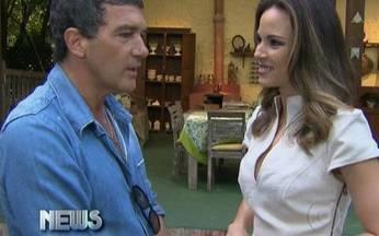 Vídeo Show News: Ana Furtado entrevista Antonio Banderas - Ator espanhol participou do programa Mais Você, de Ana Maria Braga.