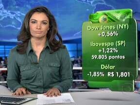 Bovespa e Dow Jones fecham em alta - Os investidores gostaram dos números da Balança Comercial chinesa. No câmbio, o dólar caiu para R$ 1,801.