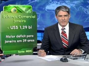 Balança Comercial brasileira registra pior resultado para meses de janeiro - As importações superaram as exportações em mais de US$ 1,2 bilhão. Na avaliação do governo, o 2012 será difícil para o comércio exterior brasileiro por causa da crise internacional.