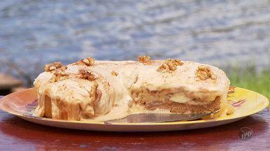 Terra da Gente - Hora do Rancho - Torta de banana com doce de leite - Na quadro 'Hora do Rancho', a dica é para a criançada. A sobremesa, fácil de fazer e muito saborosa, é a torta de banana com doce de leite.