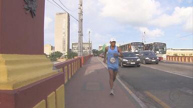Participante da Corrida das Pontes se torna exemplo de superação - Participante da Corrida das Pontes se torna exemplo de superação