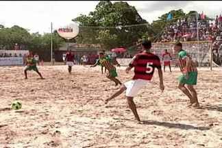 Sampaio vence o Flamengo no primeiro jogo da série de amistosos no futebol de areia - Primeiro jogo foi realizado em Timon e as duas equipes ainda teram mais três partidas pela frente