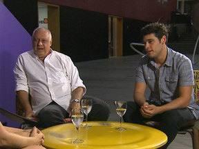 Angélica conversa com Antônio e Bruno Fagundes - Os três têm uma conversa sobre família e companheirismo