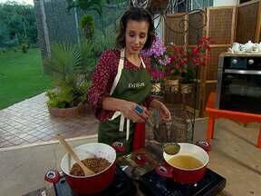 Tânia Khalil cozinha para Angélica - A atriz conta que aprendeu a comer bem depois que engravidou