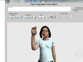 Pesquisadores criam programa de computador que traduz textos para linguagem dos sinais - O programa desenvolvido pelo departamento de computação da Universidade de Campinas permite ao avatar reconhecer todas as letras do nosso alfabeto e a partir daí traduzir os textos digitados.