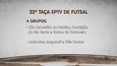 Confira os jogos da rodada desta segunda-feira (6) da Taça EPTV de Futsal - Confira os jogos da rodada desta segunda-feira (6) da Taça EPTV de Futsal