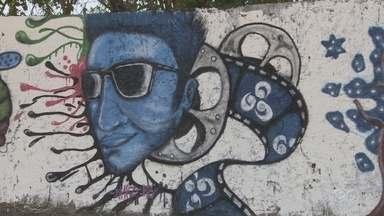 Grafiteiros de Manaus se reunem para homenagear os 40 anos da TV Amazonas - Evento aconteceu no muro do estacionamento do Studio 5