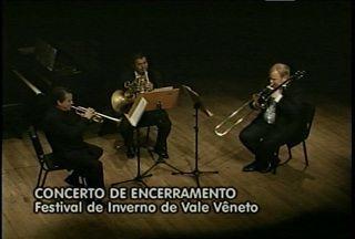 O concerto de encerramento do Festival de Inverno de Vale Vêneto - Concerto foi neste domingo no Theatro Treze de Maio