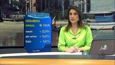 Cesta básica em Fortaleza chega a R$ 240 - É o maior valor da cesta medido pelo Dieese.