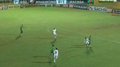 Ipatinga volta a vencer na Série B do Brasileirão - Time bateu o Bragantino por 2x0 na estréia do novo treinador.