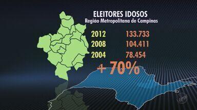 Número de eleitores idosos aumenta em 25% em Campinas - Comparação é em relação às últimas eleições. Em relação ao pleito de 2004, o aumento é de 75%.