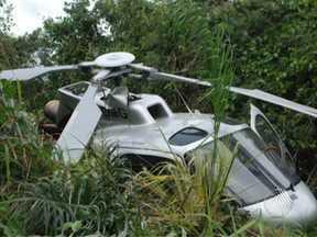 Helicóptero cai em Porto Seguro nesta quarta-feira - O veículo estava com seis ocupantes, que sofreram ferimentos leves.