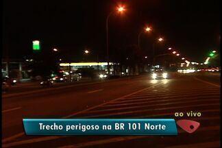 650 acidentes já foram registrados em 2012 em trecho da BR-101 Norte, no ES - Trecho corta o município da Serra, na Grande Vitória.
