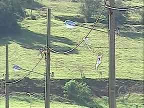 Copel faz campanha de prevenção de acidentes com energia - As pipas em contato com a rede elétrica são uma das principais preocupações da empresa.