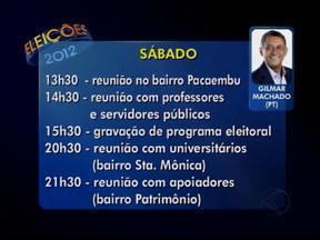 Veja a agenda dos candidatos a prefeito de Uberlândia deste sábado (18) - Agenda dos três candidatos da cidade é divulgada diariamente. As informações são enviadas pelas assessorias dos concorrentes.
