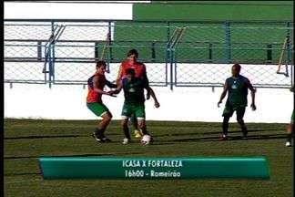 Verdão se prepara para enfrentar o Fortaleza - Equipe da TV Verdes Mares Cariri foi impedida de gravar por assessor do Icasa
