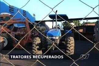 Tratores roubados em São Paulo são recuperados em Rio Verde, Goiás - Polícia prendeu no munício do sudoeste goiano duas pessoas suspeitas de participarem de quadrilha de roubo de máquinas agrícolas.