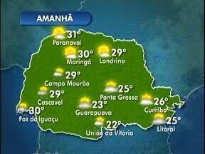 Tempo seco e quente continua em Curitiba - Nesta terça-feira a temperatura chega a 26 graus.