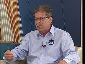 Candidato Jorge Lange (PSD) fala das propostas para a prefeitura de Cascavel - Entrevista faz parte da série exibida pelo ParanáTV 2ª edição com os candidatos a prefeito.