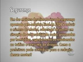 Candidatos à prefeitura de Florianópolis falam sobre o que fariam quanto à segurança - Série do Jornal do Almoço traz um tema a cada dia.