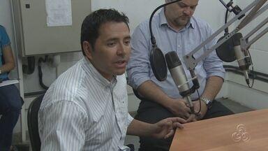 Sabino participa de entrevista na Rádio Amazonas FM - Candidato à Prefeitura de Manaus respondeu a perguntas de jornalistas.
