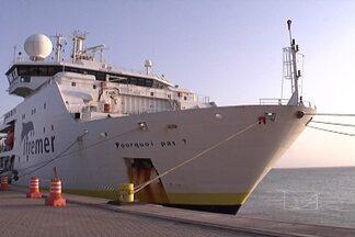 Maior navio de pesquisa oceanográfica da França faz escala em São Luís - Quarenta profissionais vivem a bordo, realizando pesquisas pelo oceano.