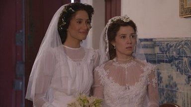 Lado a Lado, capítulo de quarta-feira, dia 12/09/2012, na íntegra - Chega o dia dos casamentos de Laura e Edgar e de Zé Maria e Isabel