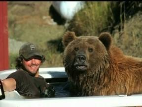 Veja a incrível história de amizade entre um homem e um urso pardo - Com apenas alguns meses de idade, não havia espaço para Brutus no parque, por isso ele foi adotado por Casey Anderson. Os dois desenvolveram uma amizade única
