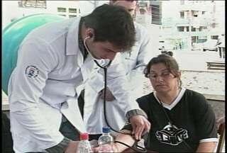 Atividades na praça marcam o Dia do Coração em Santa Maria, RS. - As ações são organizadas pelos estudantes de Medicina da UFSM.