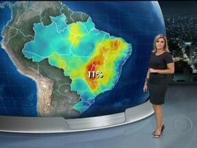 Risco de temporais diminui no sul do Brasil a partir desta quarta-feira (4) - As áreas de instabilidade perdem força e a quinta deve alternar períodos de chuva fraca e de sol. O dia será chuvoso também no leste da Bahia. Na área que inclui São Paulo, Acre e Pará, as pancadas chegam à tarde por causa do calor.