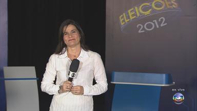 TV Globo promove debate ao vivo entre candidatos a prefeito do Recife - Repórter Bianka Carvalho mostra como o cenário está organizado e explica como tudo vai funcionar.