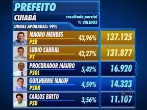 Muitas pessoas acompanharam até o fim a apuração dos votos em Cuiabá - Eram quase dez horas da noite quando o tribunal regional eleitoral encerrou a totalização dos votos das seções eleitorais da capital.