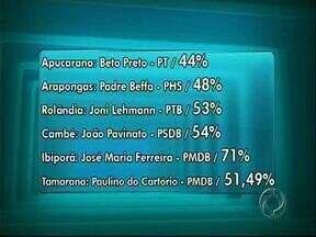 Veja quais são os prefeitos das cidades próximas a Londrina - Cidades com menos de 200 mil eleitores já têm a decisão de quem são os próximos prefeitos.