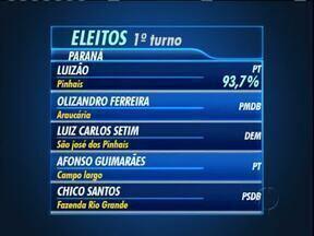 Veja os prefeitos das principais cidades da RMC - Candidato de Pinhais recebeu quase 94% dos votos válidos.