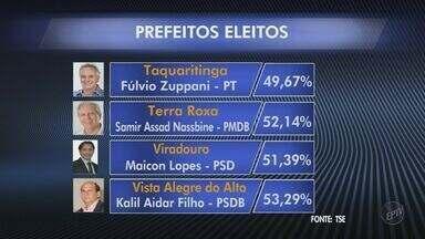 Veja resultados das eleições em Taquaritinga, Viradouro e outras cidades da região - Jornal da EPTV mostra prefeitos eleitos nas cidades da região de Ribeirão Preto.