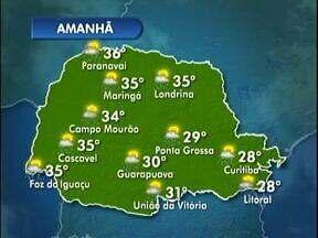 A previsão é de sol e calor nesta terça-feira - Máxima na capital chega aos 28º.