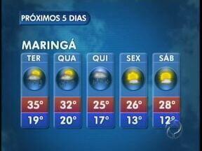A previsão é de chuva para essa terça-feira na região de Campo Mourão - Em Maringá o tempo deve seguir instável até quinta-feira