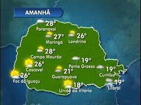 Previsão de chuva nesta quinta-feira - As temperaturas rficam mais baixas. Na capital, 19 graus será a máxima.