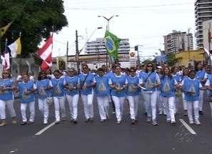 Missa do Círio de Nazaré lota paróquia na Zona Centro-Sul de Manaus - Fieis homenagearam Nossa Senhora de Nazaré durante o Círio. Procissão reuniu cerca de 25 mil pessoas na Zona Centro de Manaus.