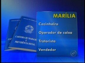 Confira as vagas de emprego oferecidas em Marília e Ourinhos, SP - Os Postos de Atendimento ao Trabalhador (PAT) de Marília e Ourinhosx (SP) disponibilizam diversas oportunidades de emprego nesta segunda-feira (15).