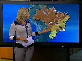Temperatura volta a subir no Sul e Sudeste - Máxima será de 24°C na capital paulista, 27°C em Porto Alegre e 28°C no Rio de Janeiro. Há previsão de chuva forte do norte de Mato Grosso do Sul ao Amazonas.