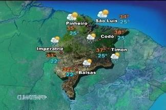 Confira a previsão do tempo para esta sexta-feira (9) no Maranhão - Muitas nuvens se formam sobre o centro-sul do Maranhão nesta sexta-feira. Com a umidade alta e o calor, as pancadas de chuva voltam a ocorrer, principalmente à tarde e à noite.