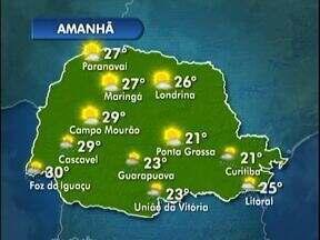 A quarta-feira pode ter sol em Curiitba - As temperaturas ficam mais altas do que nesta terça.