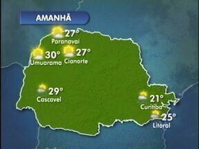 Temperatura volta a subir nesta quarta-feira na região noroeste - Em Umuarama, a máxima chega aos 33º nos próximos dias.