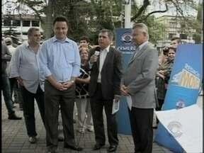Projeto Redação Móvel, da RBS TV, esteve em Joinville - Projeto Redação Móvel, da RBS TV, esteve em Joinville