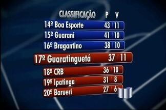 Bragantino e Guará brigam para se manter na Série B do Brasileiro - Torcedores dos dois times lutam ponto a ponto para não cair para a Série C.