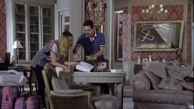 Antonia enfrenta Celso e assina o contrato de Lívia - Ela pede que o marido não se meta. Isaurinha fica tensa. Celso conversa com Arturo e se mostra preocupado com o negócio